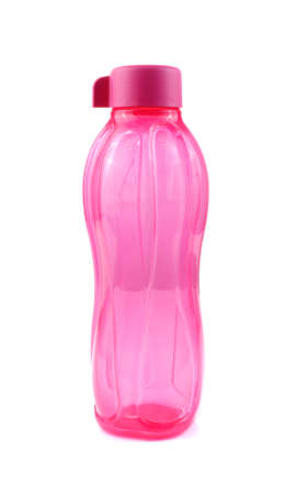 bottle plastic water pink  on white background for multipurpose Stock Photo