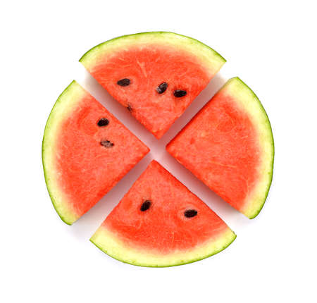 sliced watermelon: Watermelon slice isolated on white background