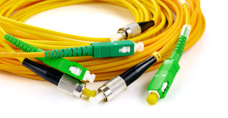 fiberoptic: Fiber optic connectors, used fiber optic cables which is responsible for transmitting data at larger distances