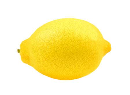 Whole lemon on white background, Yellow ripe lemon isolated on a white