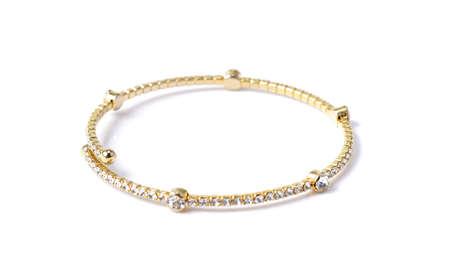 화이트 다이아몬드가있는 팔찌