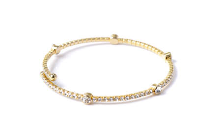 bracelet with diamonds on white