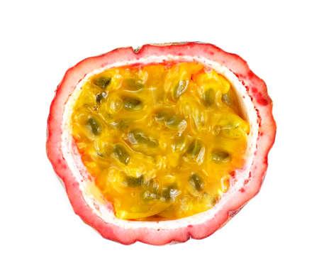 Passion fruit. Half isolated on white background