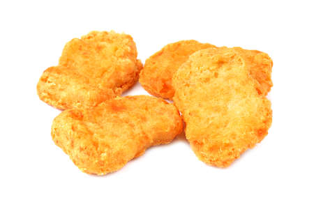 chicken nuggets  isolated on a white background Stock Photo