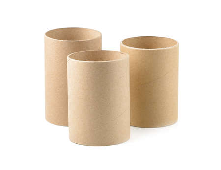 empty paper roll isolated on white background