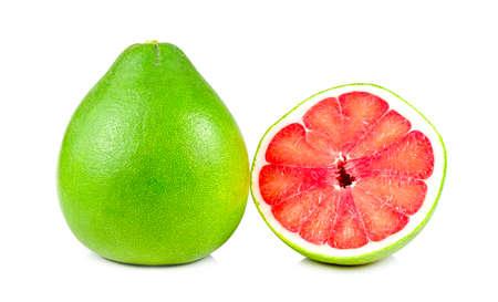 Pomelo fruit isolated on white background