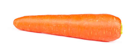 Fresh carrot isolated on white background.