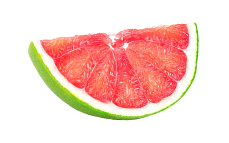 Pomelo fruit piece isolated on white background