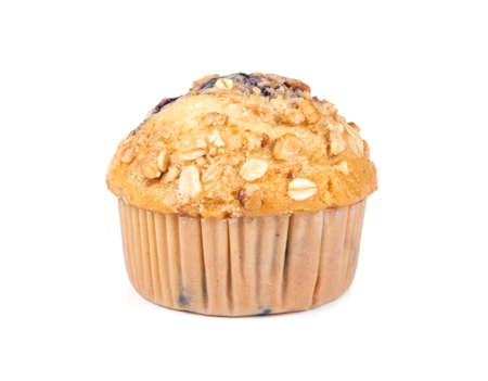Blueberry muffin isolated on white background Reklamní fotografie