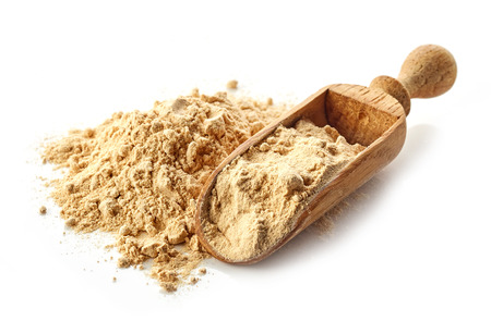 heap of maca powder isolated on white background Reklamní fotografie - 50924673