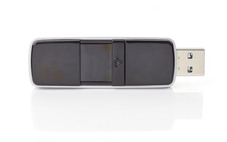 flash memory: USB Flash memory isolated on white background