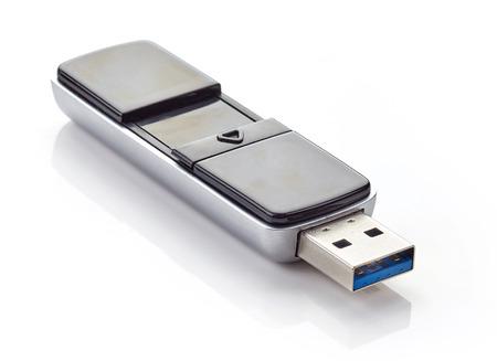 Flash memory isolated on white background Stock Photo