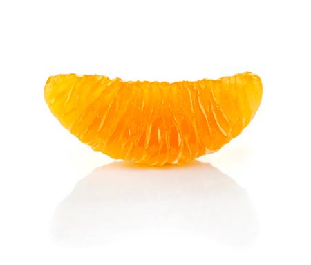 orange peel clove: Slice of mandarin orange on white background, isolated