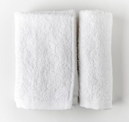 White spa towels, top view Standard-Bild