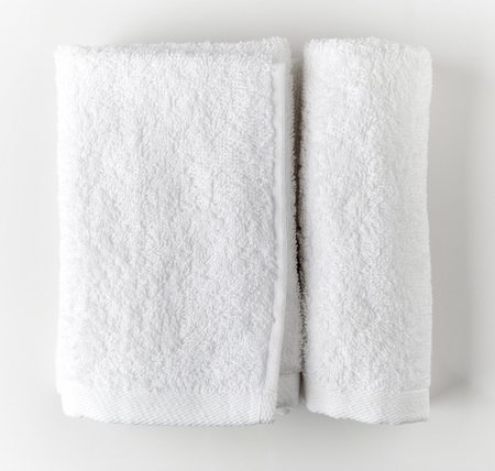 White spa towels, top view Reklamní fotografie
