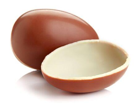 chocolate egg: Chocolate egg isolated on white background