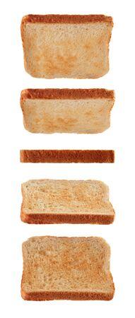 Toast breads for sandwich levitating isolated on white background Reklamní fotografie