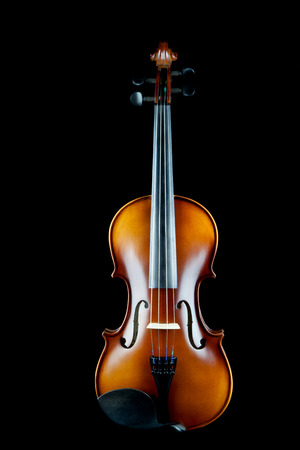 rosin: Classical violin on black background.
