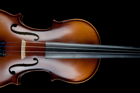 rosin: Classical violin isolated on black
