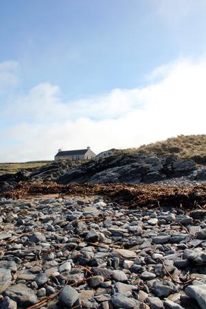 stoney: Stoney beach at Laggan Bay, Islay, Argtllshire, Scotland. Stock Photo