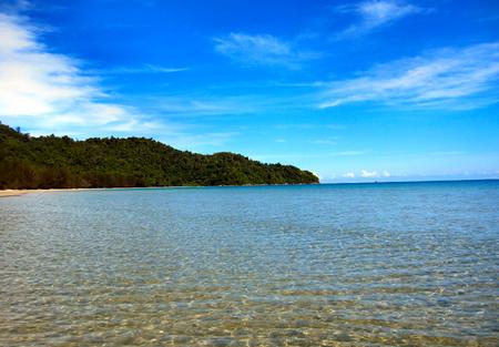 liesure: Tropical beach scene at Sabah, Borneo, East malaysia Stock Photo