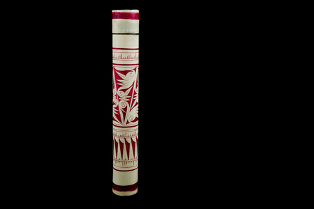 hand crafted: A traditional hand crafted Borneo Dayak Bamboo Blowpipe case