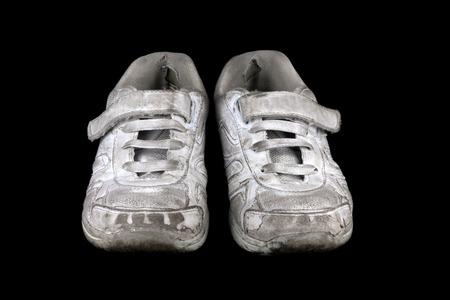 zapatos escolares: Un par de zapatos solo de la escuela Foto de archivo