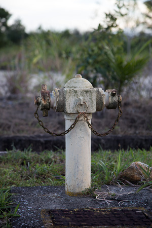 rusting: A rusting fire hydrant in Sarawak Borneo