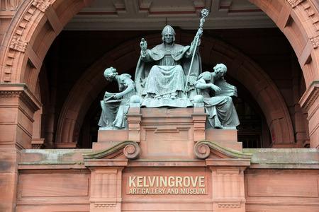 effigy: Saint Mungo effigy at Glasgow Museum and Art Gallery Scotland