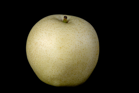 asian pear: Asian pear or golden pear isolated on a black background Stock Photo