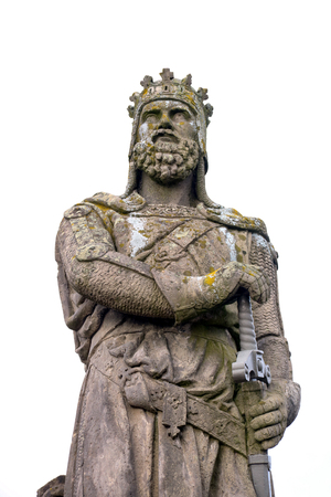 Statue of King Robert The Bruce of Scotland at Stirling Castle Editorial