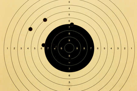Used shooting target close up view for background