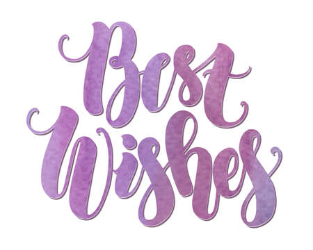 best wishes: Best wishes, handmade watercolor lettering Illustration