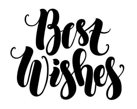 best wishes: Best wishes, handmade modern brush lettering