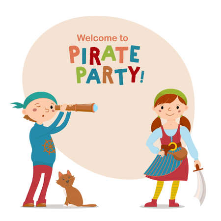 Pirate theme party design.