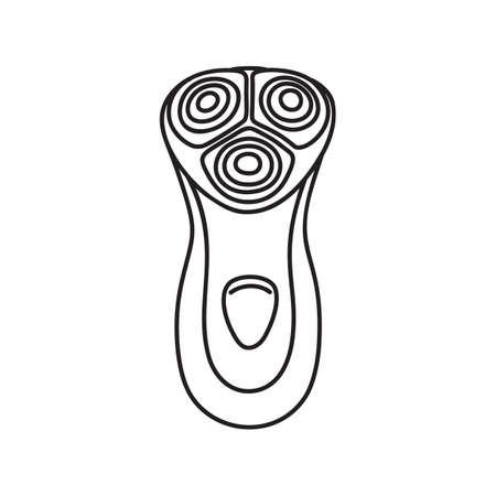 Drawing of electric razor, shaving tool, line art