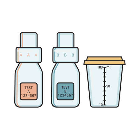 Empty urine collection vessels for doping control