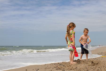 jutland: Twins at North Sea beach
