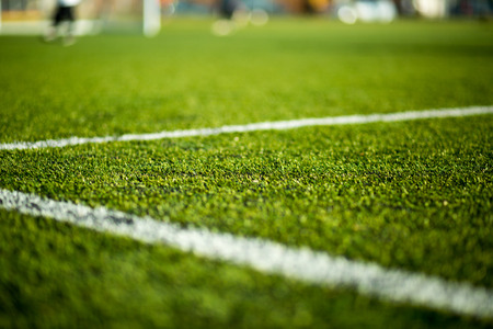 Close-up of artificial turf photo