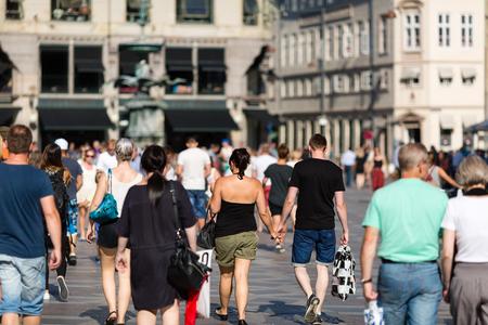Pedestrian area in the city centre of Copenhagen, Denmark. photo