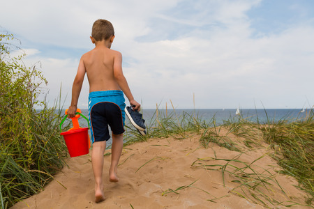 young caucasian: Young caucasian boy in Denmark on a summer day.