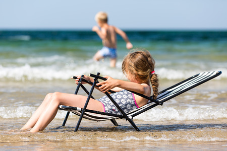 caucasian girl: Young caucasian girl in Denmark on a summer day.