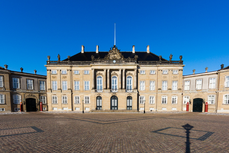 royal family: Amalienborg is the residence of the Danish Royal Family. The palace is octagonal with a statue of King Frederik V in centre.