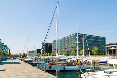 marina life: Marina life on a sunny summer day in Hellerup, a suburb of Copenhagen, Denmark.