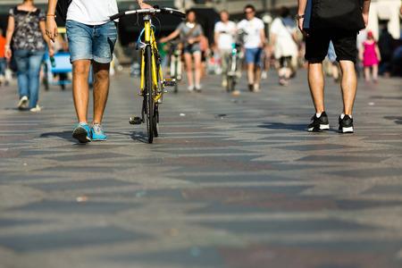 anonymous people: Pedestrian area in the city centre of Copenhagen, Denmark.
