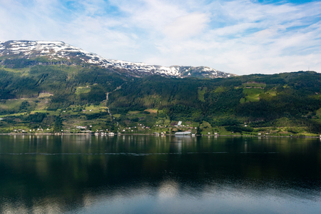 western part: Nature scenery near Hardangerfjord in Western part of Norway on a summer day.