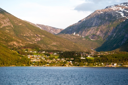 hardanger: Nature scenery near Hardangerfjord in Western part of Norway on a summer day.