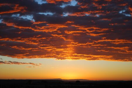 Sunrise over the Utah desert Stock Photo