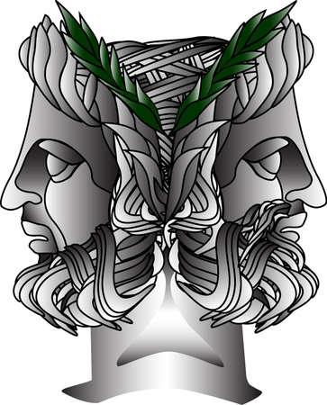 janus: Janus Statue  Illustration