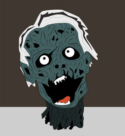 decaying: Groaning Zombie Head